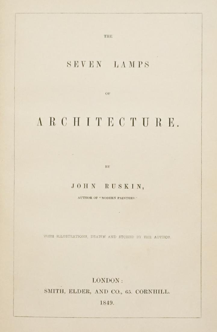 The Seven Lamps of Architecture 1849 First Ed.