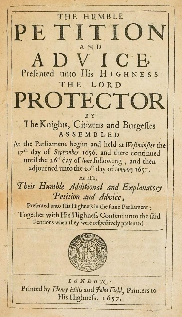 27 Petitions and Acts of Congress 1657, London