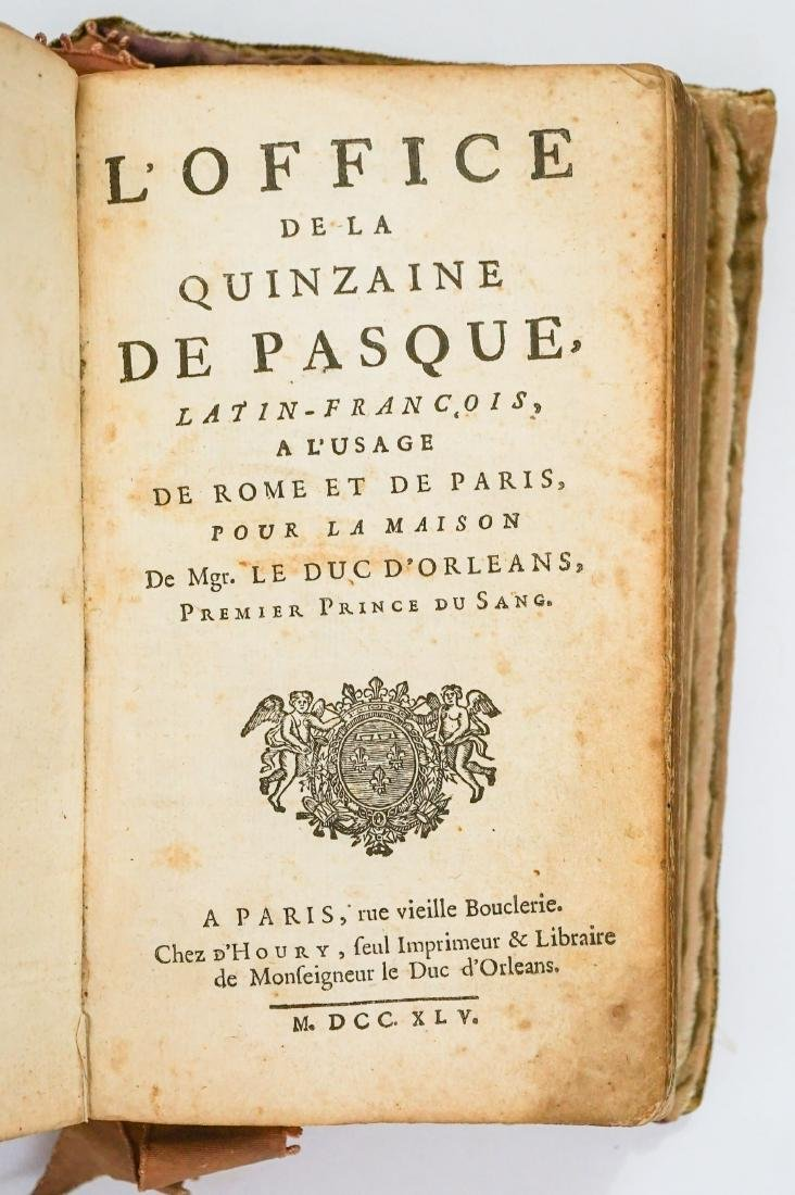 L'Office de la Quinzaine de Pasque 1745