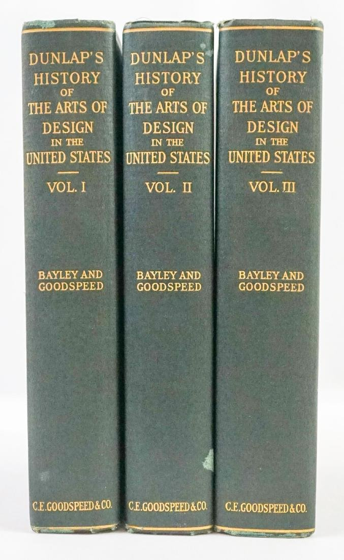 The Arts of Design by William Dunlap; 3 Vol. 1918