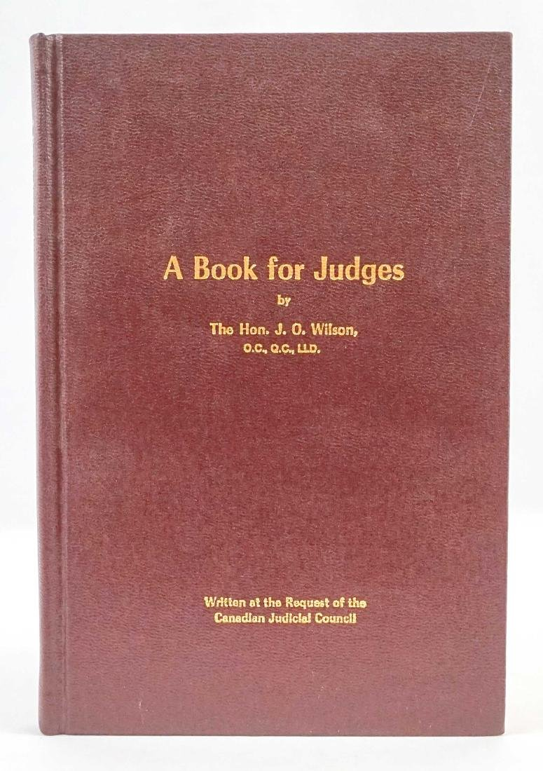 A Book for Judges by Hon. J. O. Wilson 1980