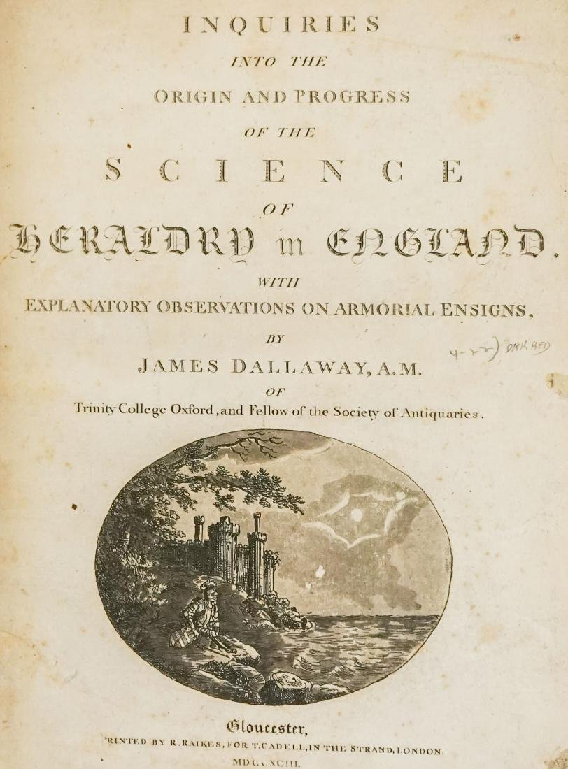 Science of Heraldry in England by Dallaway 1793