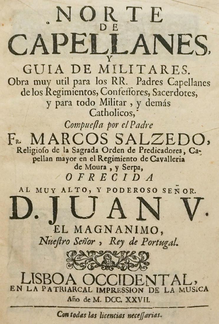 Norte de Capellanes y guia de Militares 1727