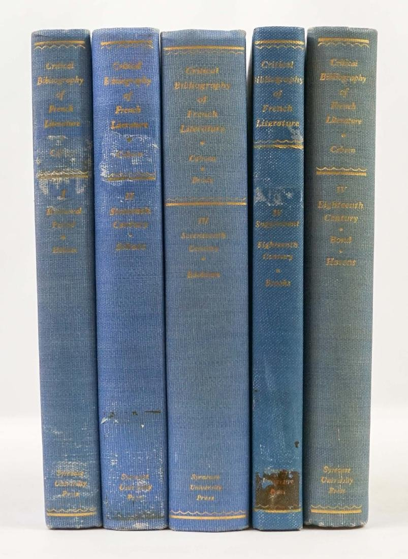 Critical Bibliography of French Literature 5 vol