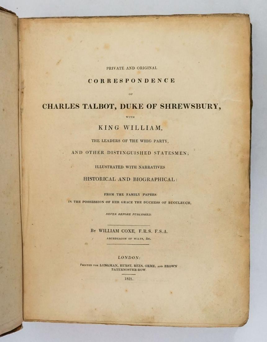 Charles Talbot by William Coxe 1821