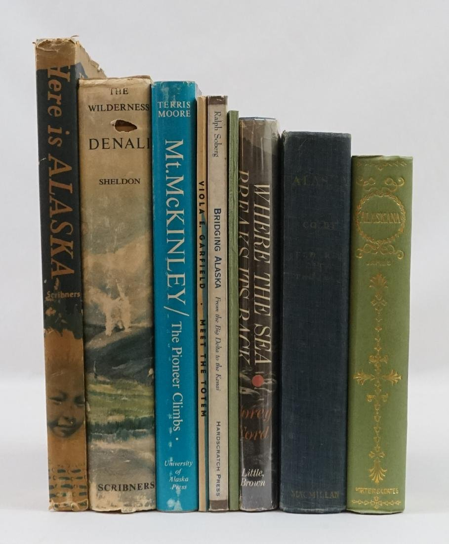 Group of Nine Alaska Books