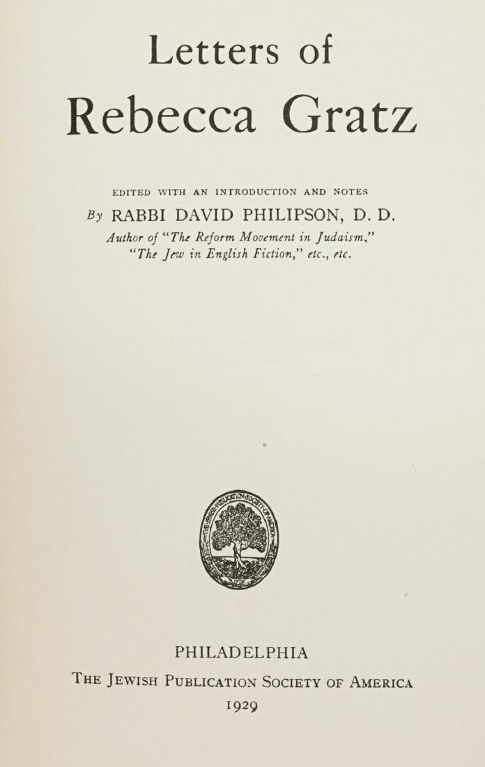 Letters of Rebecca Gratz 1929