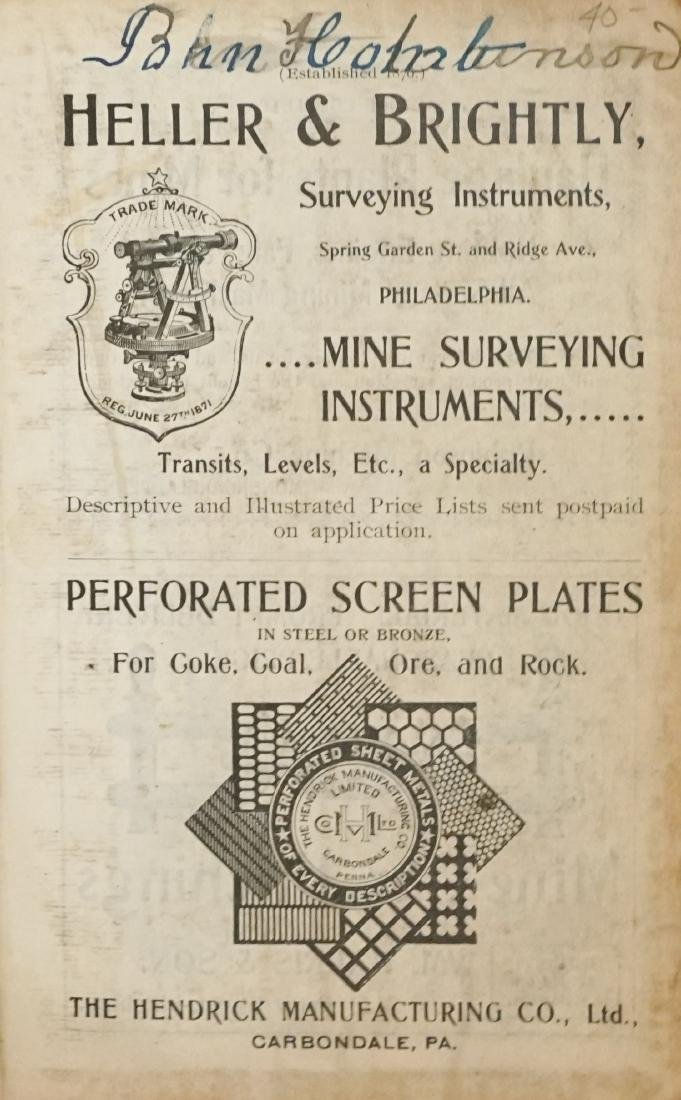 The Coal and Metal Miners' Pocket Book 1900