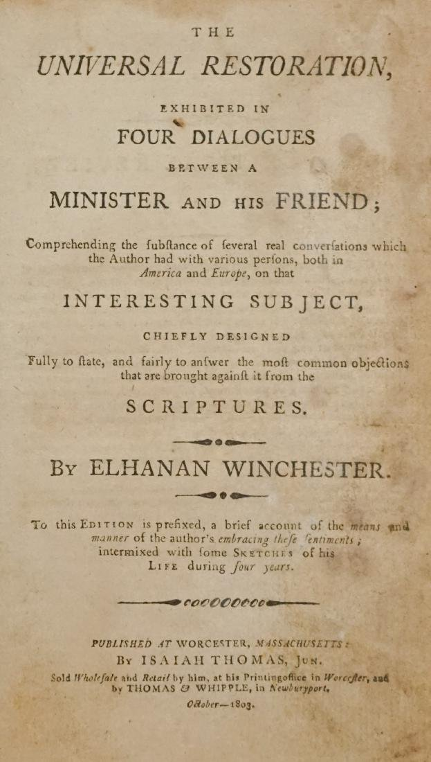 The Universal Restoration 1803