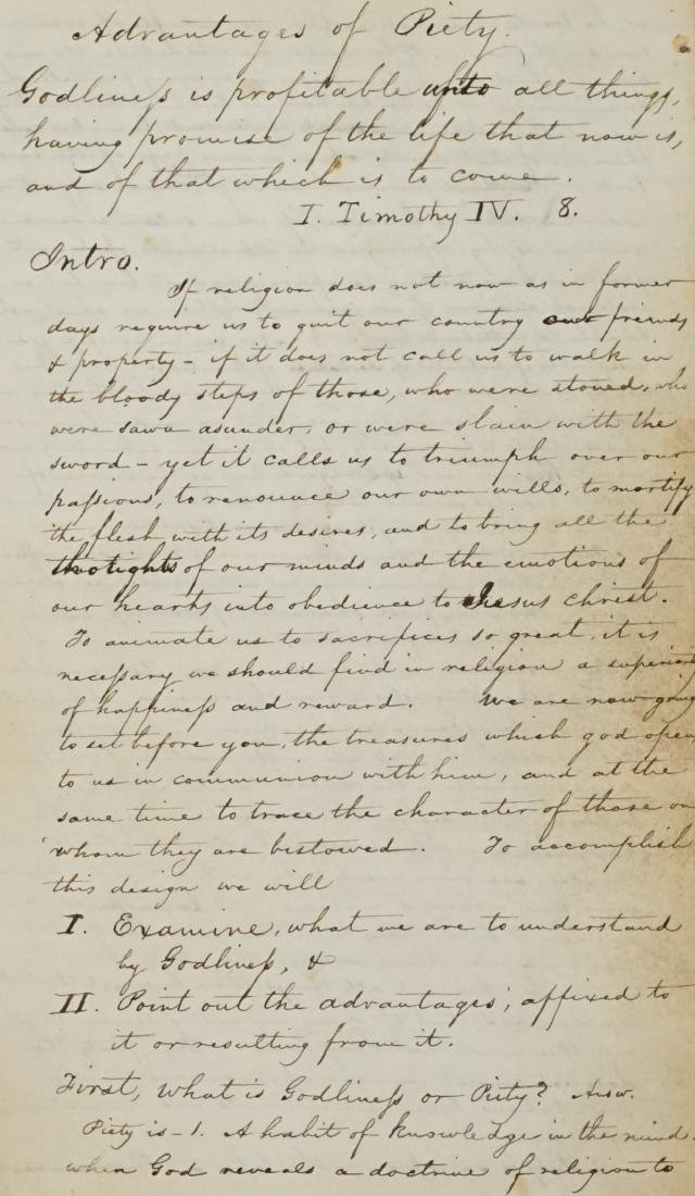 19th (?) Century Handwritten Journal