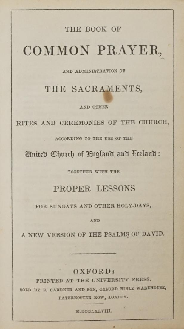 The Book of Common Prayer 1848
