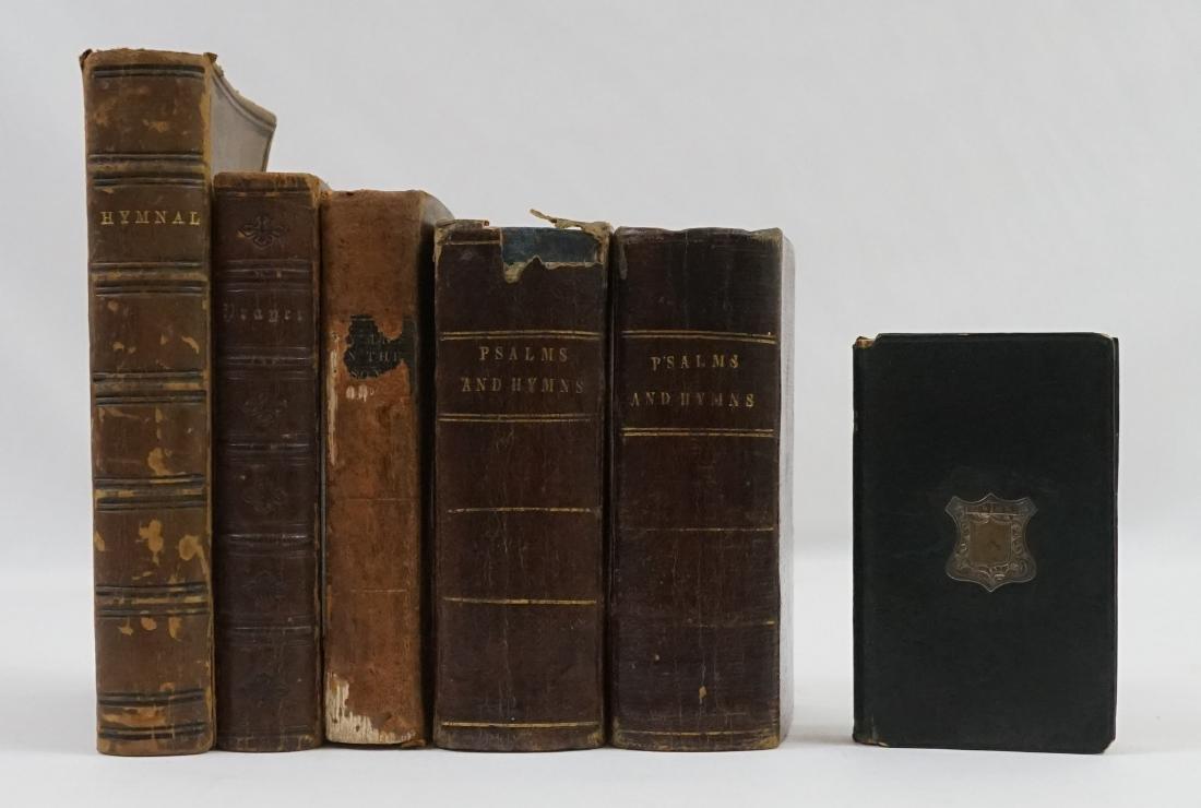 Group of Six Christian Hymnal and Prayer Books