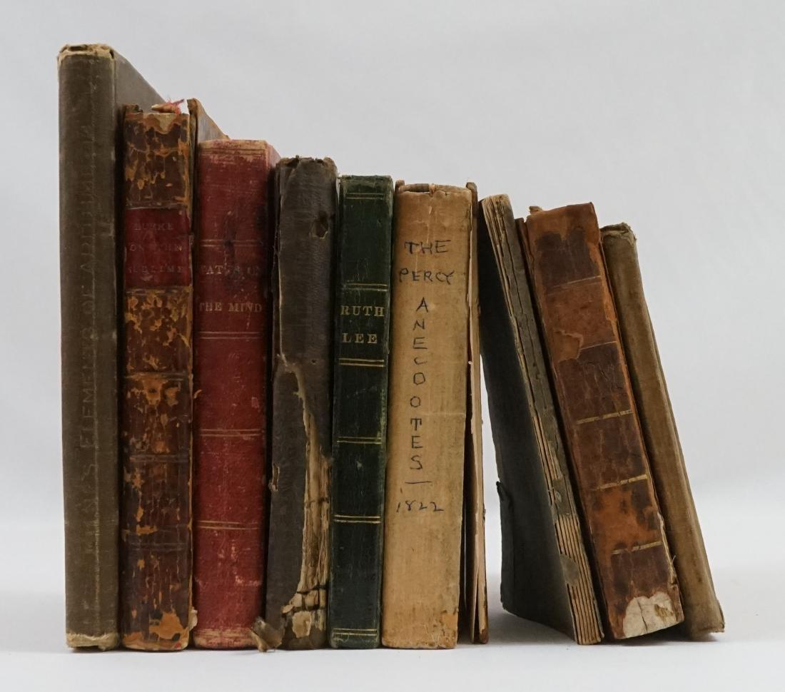 Group of Nine 19th Century Books