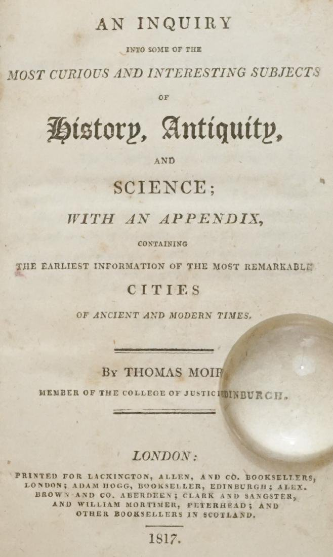 History, Antiquity, and Science by Moir 1817