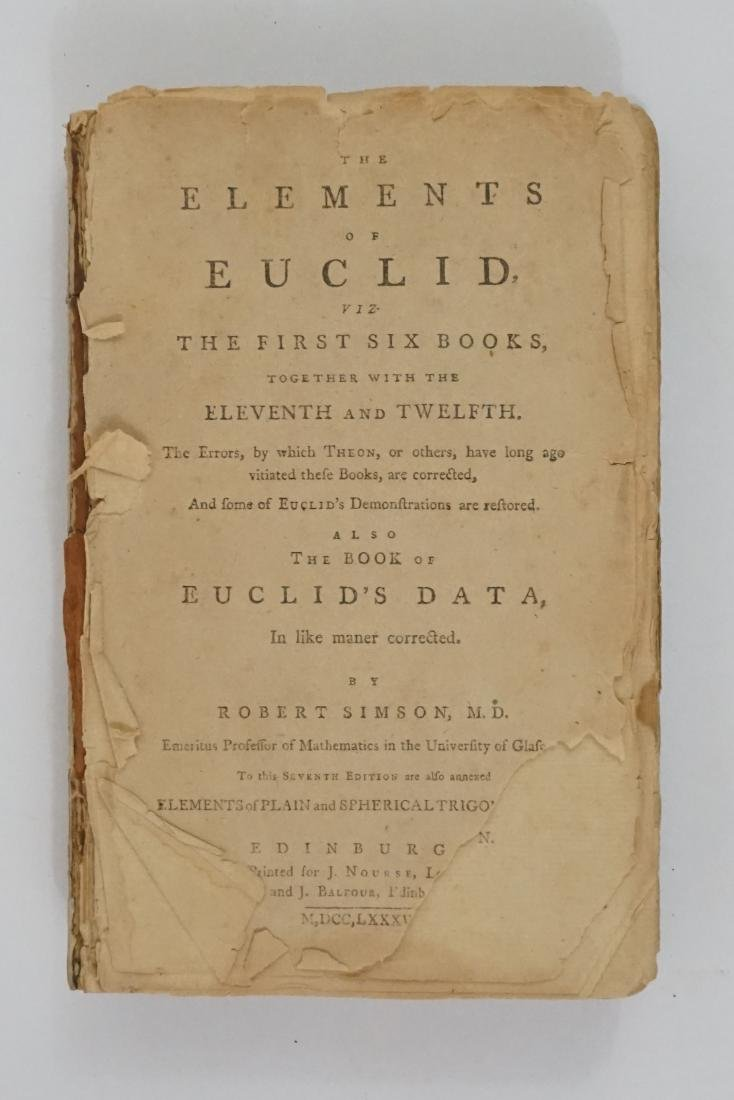 The Elements of Euclid by Robert Simson 1787
