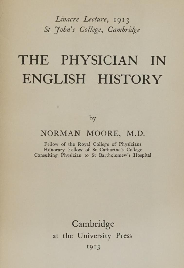 The Physician in English History by Moore 1913