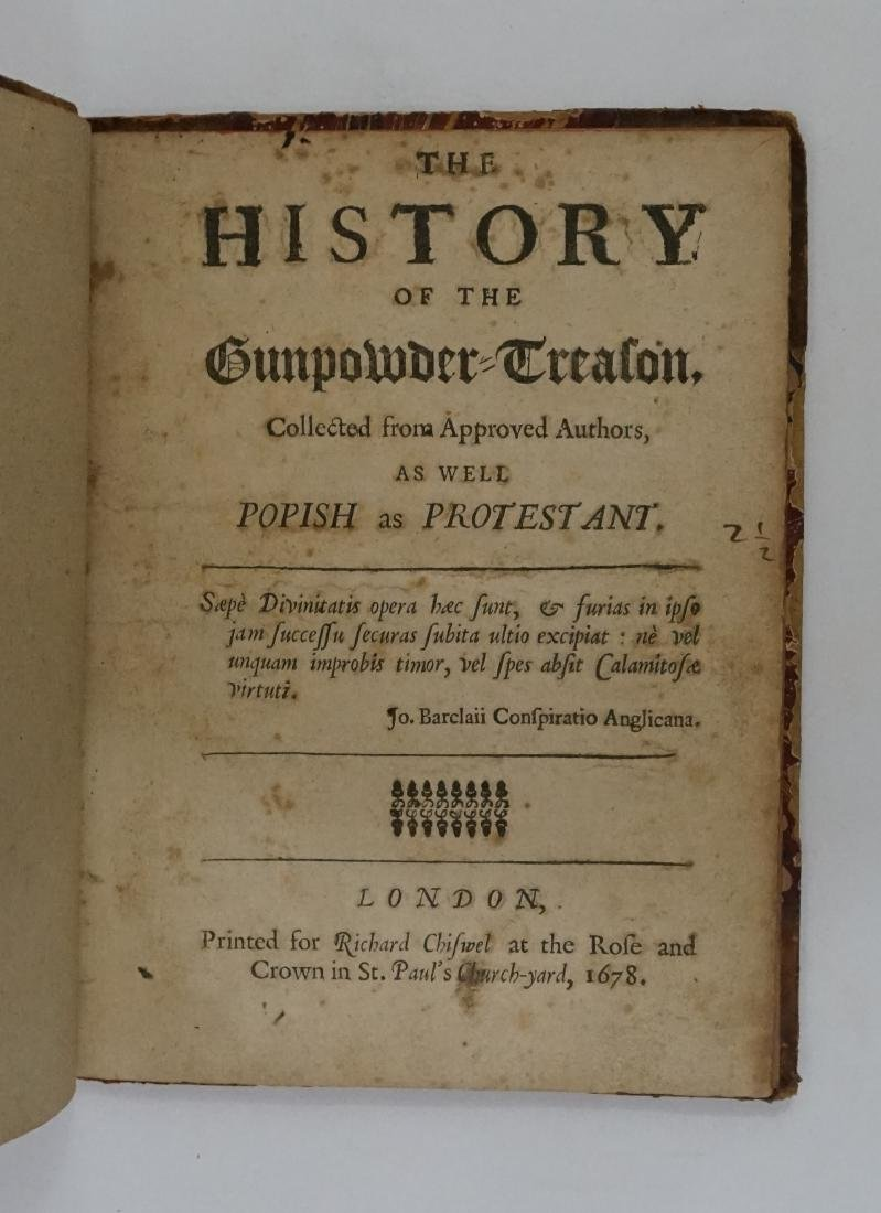 The History of the Gunpowder Treason 1678