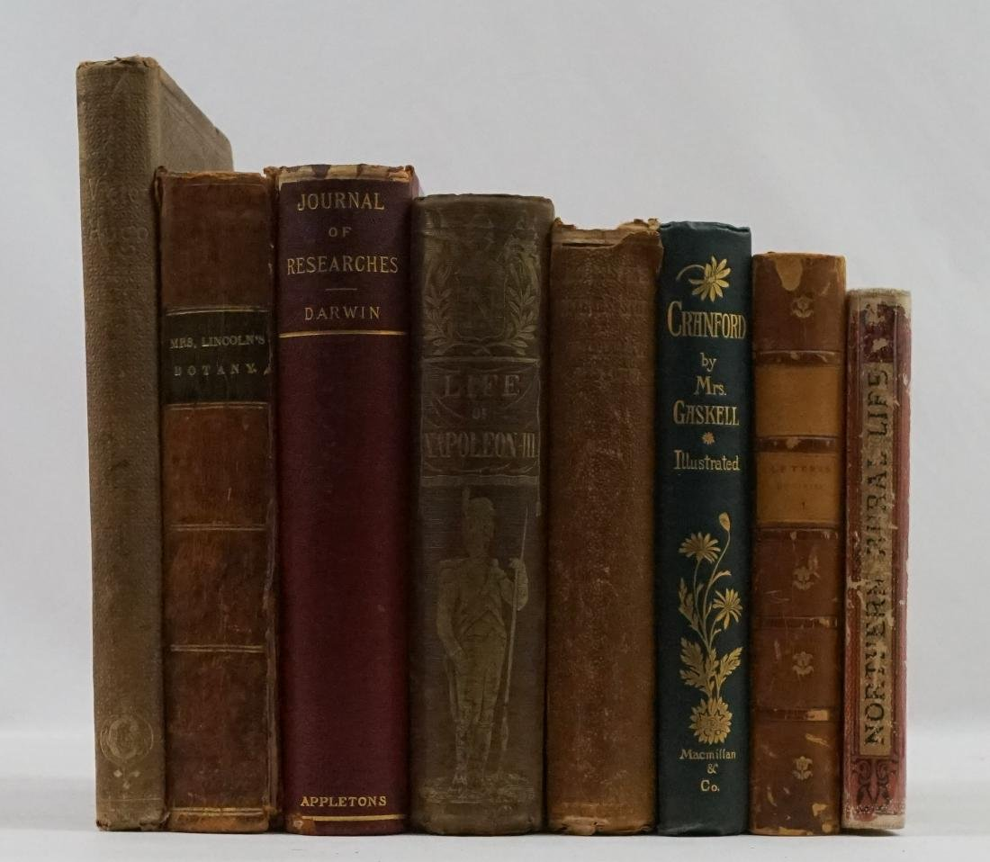 Group of Eight Nineteenth Century Books