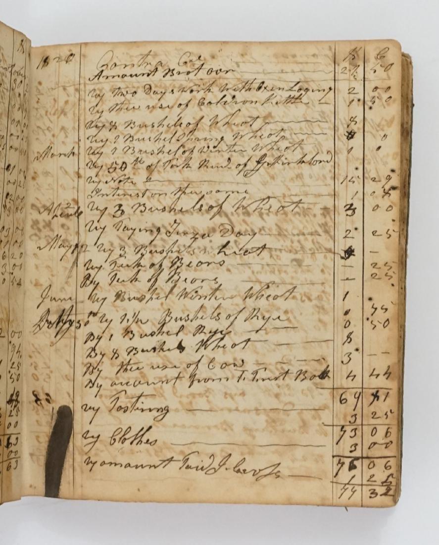 Handwritten Journal and Receipt Book