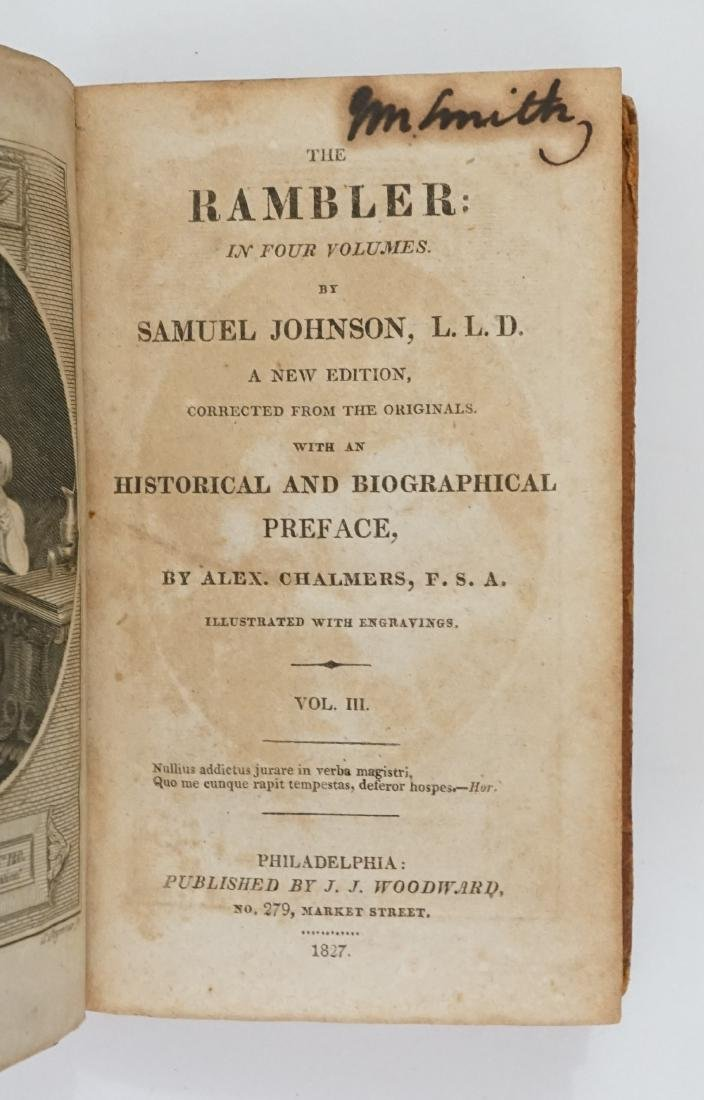 The Rambler: In Four Volumes 1827