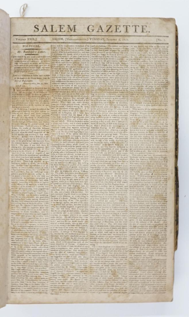 Salem Gazette 1815-1816