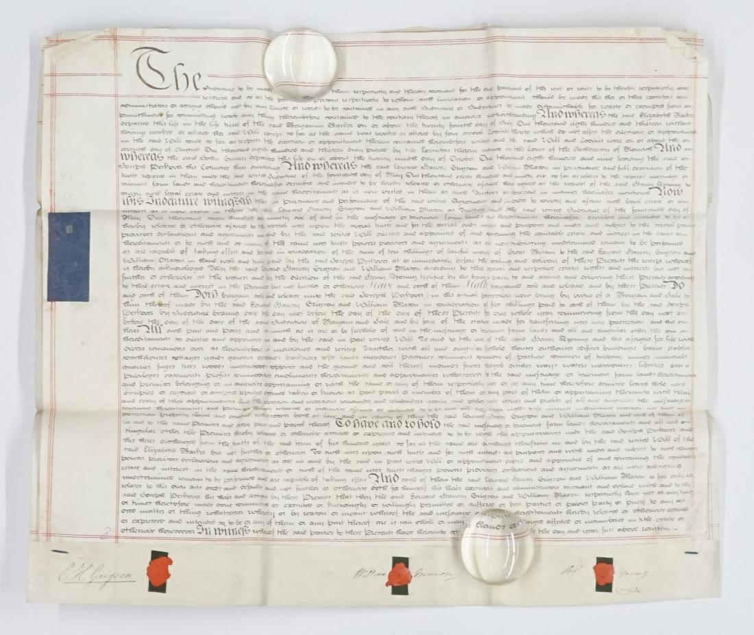 1820 George IV Handwritten Indenture