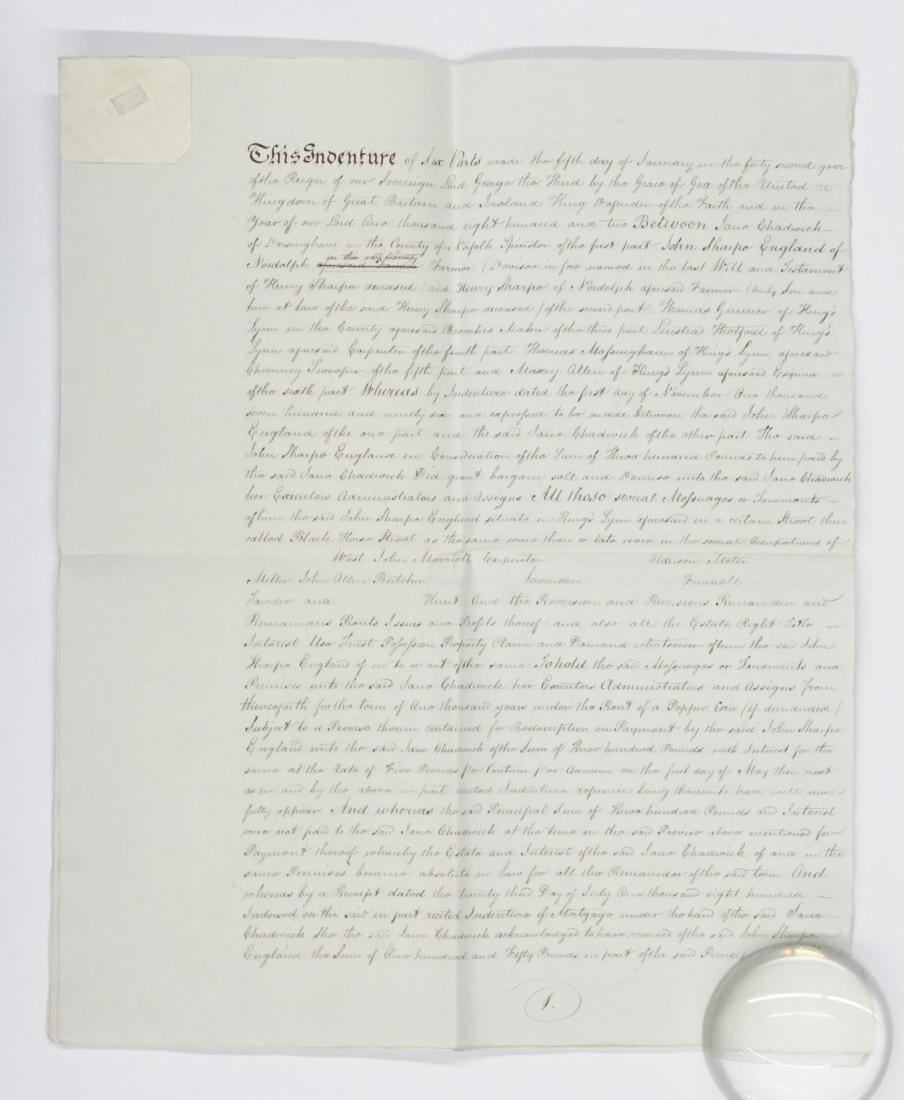 1802 George III Handwritten Indenture