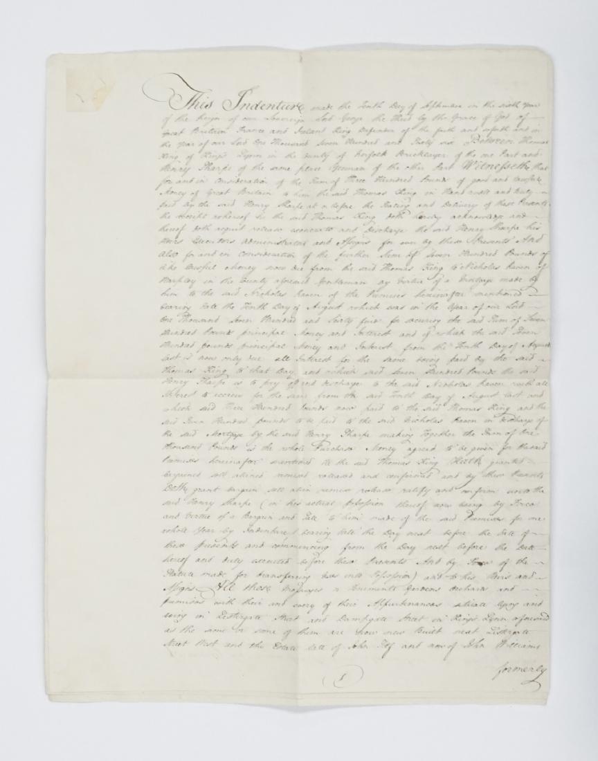 1766 George III Handwritten Indenture