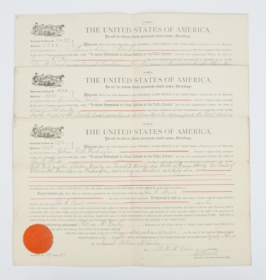 Three Land Grants, two Idaho, one Washington