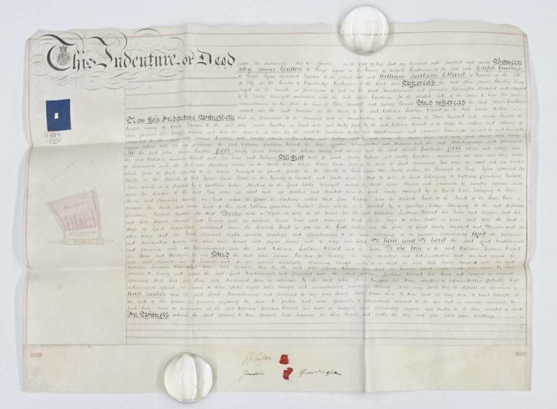 1870 Handwritten Indenture Deed