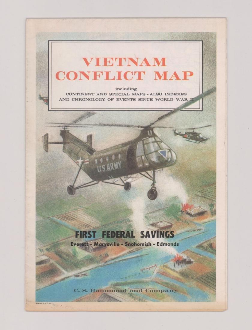 Vietnam Conflict Map - C.S. Hammond And Company