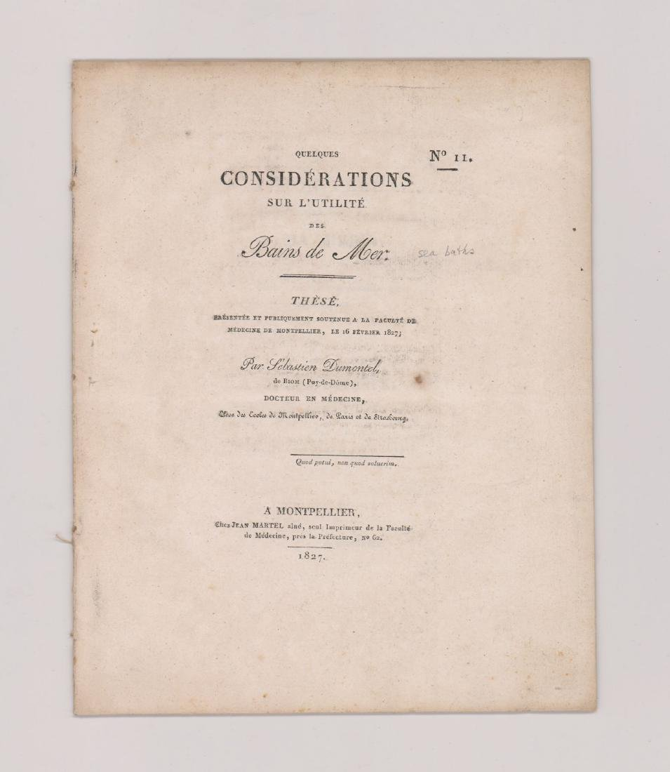 Considerations on the usefulness of sea baths 1827