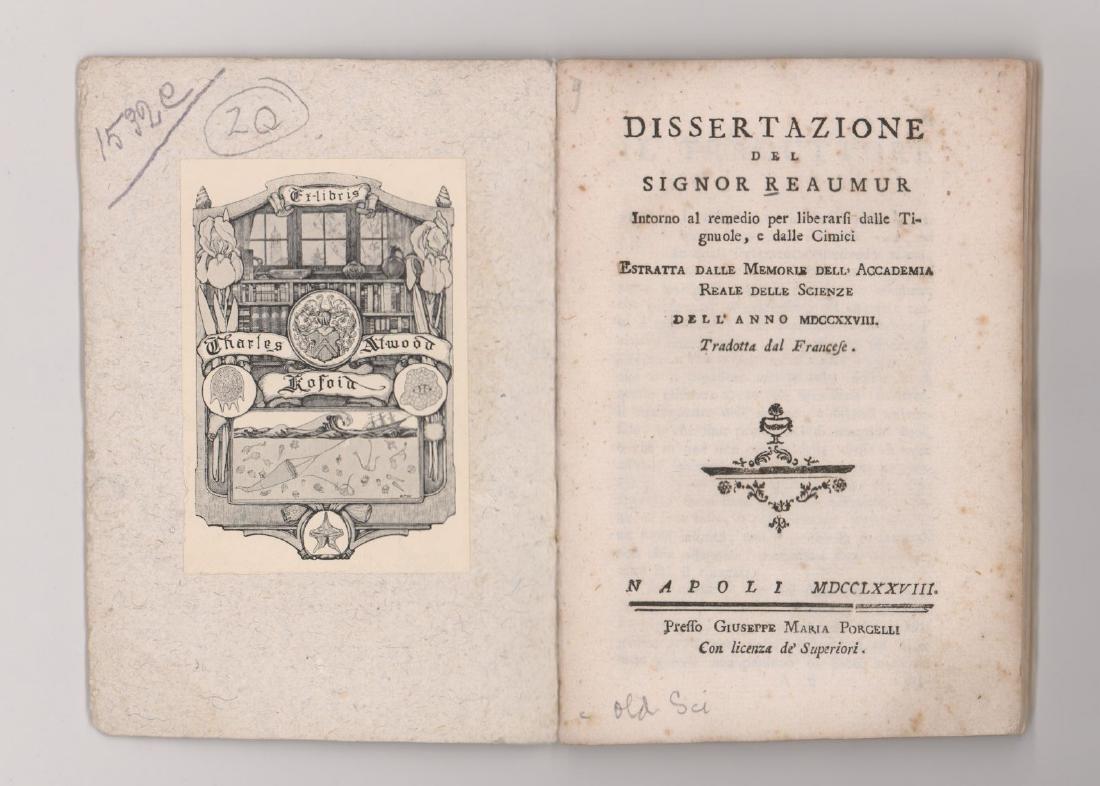 1778 Dissertazione Del Signor Reaumur