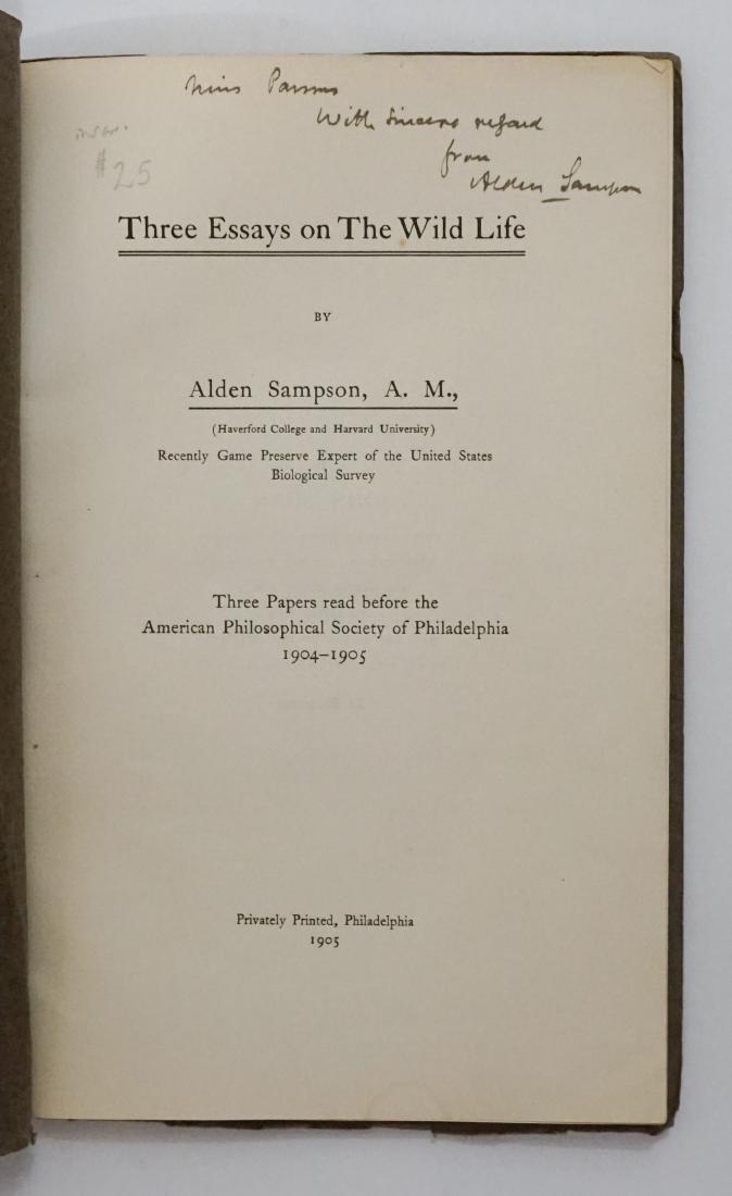 Alden Sampson Signed Book