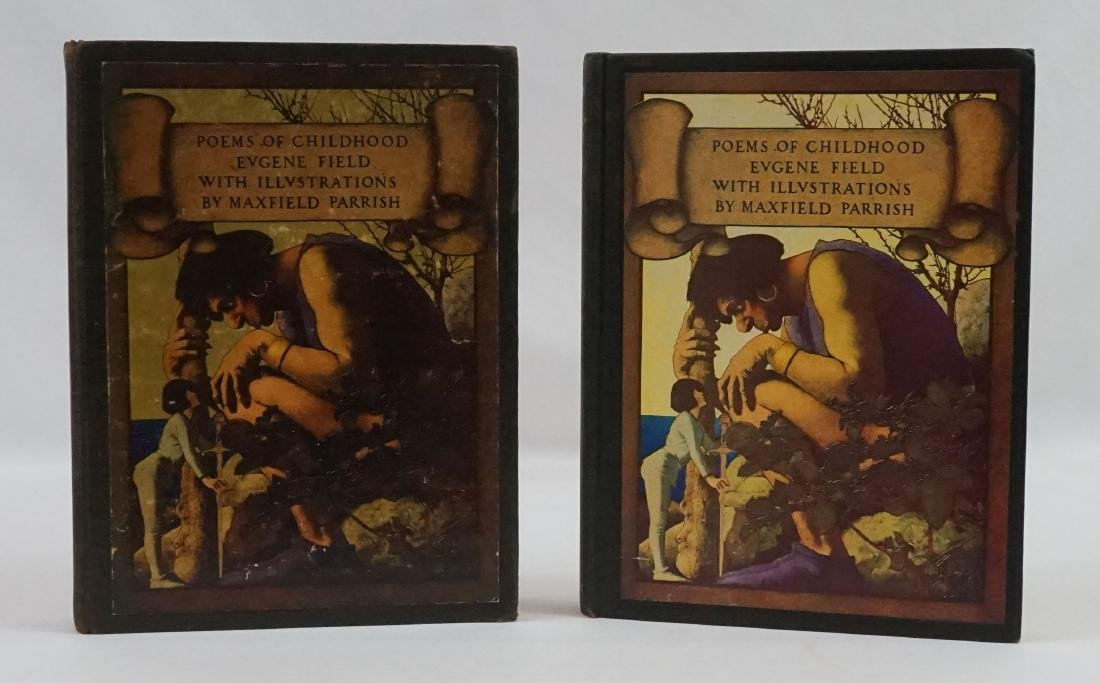 (2 books) Poems of Childhood by Eugene Field 1904