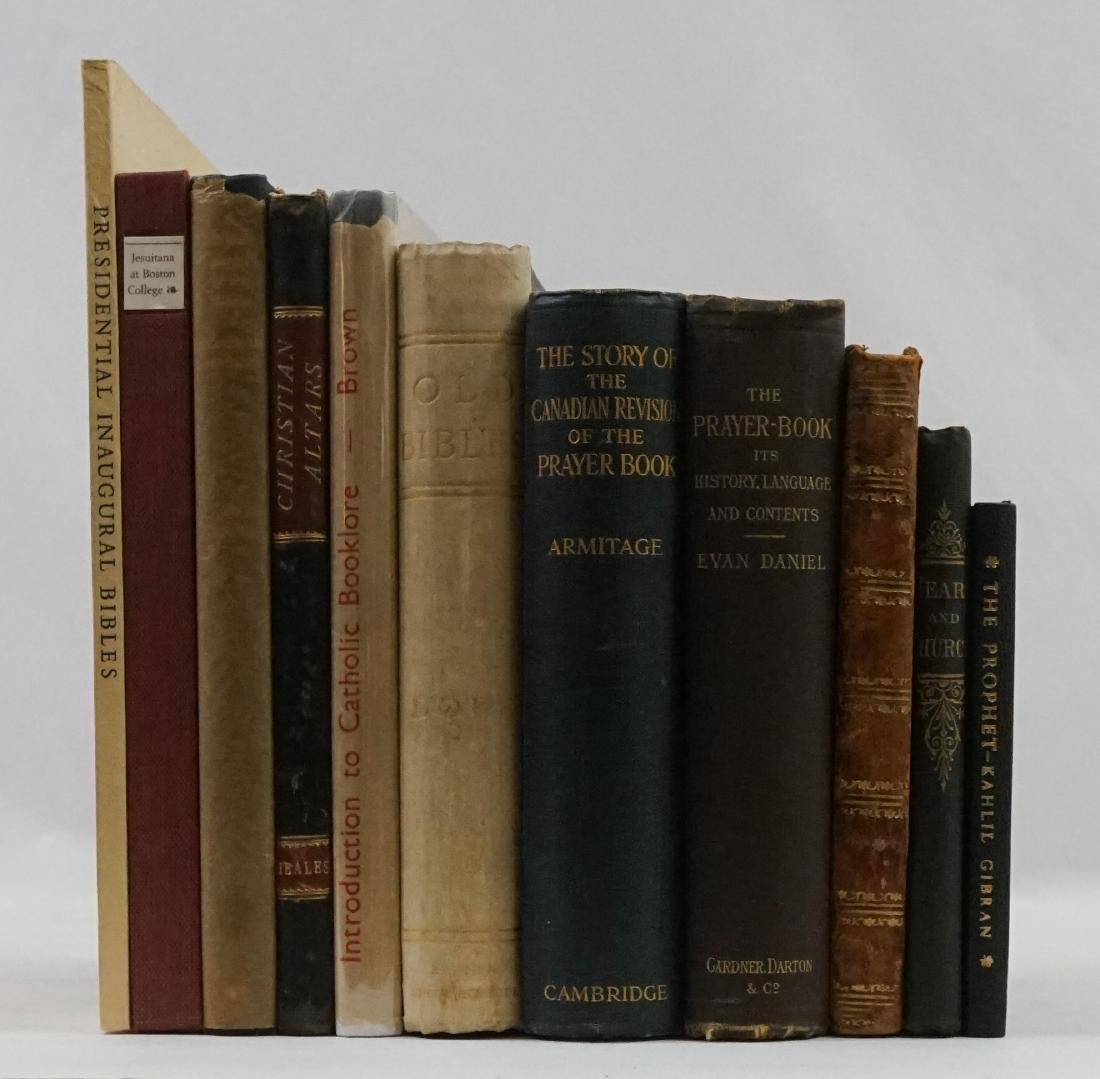 Group of Eleven Religious Books