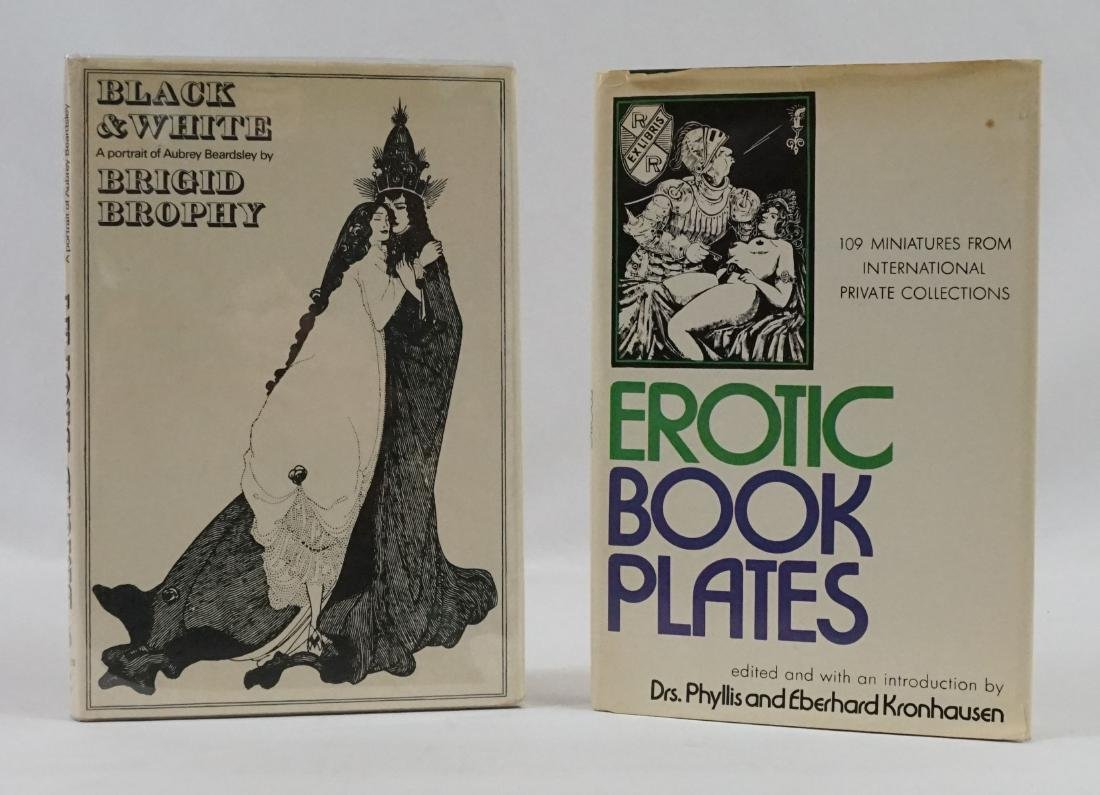2 books; Erotic Book Plates and Black & White