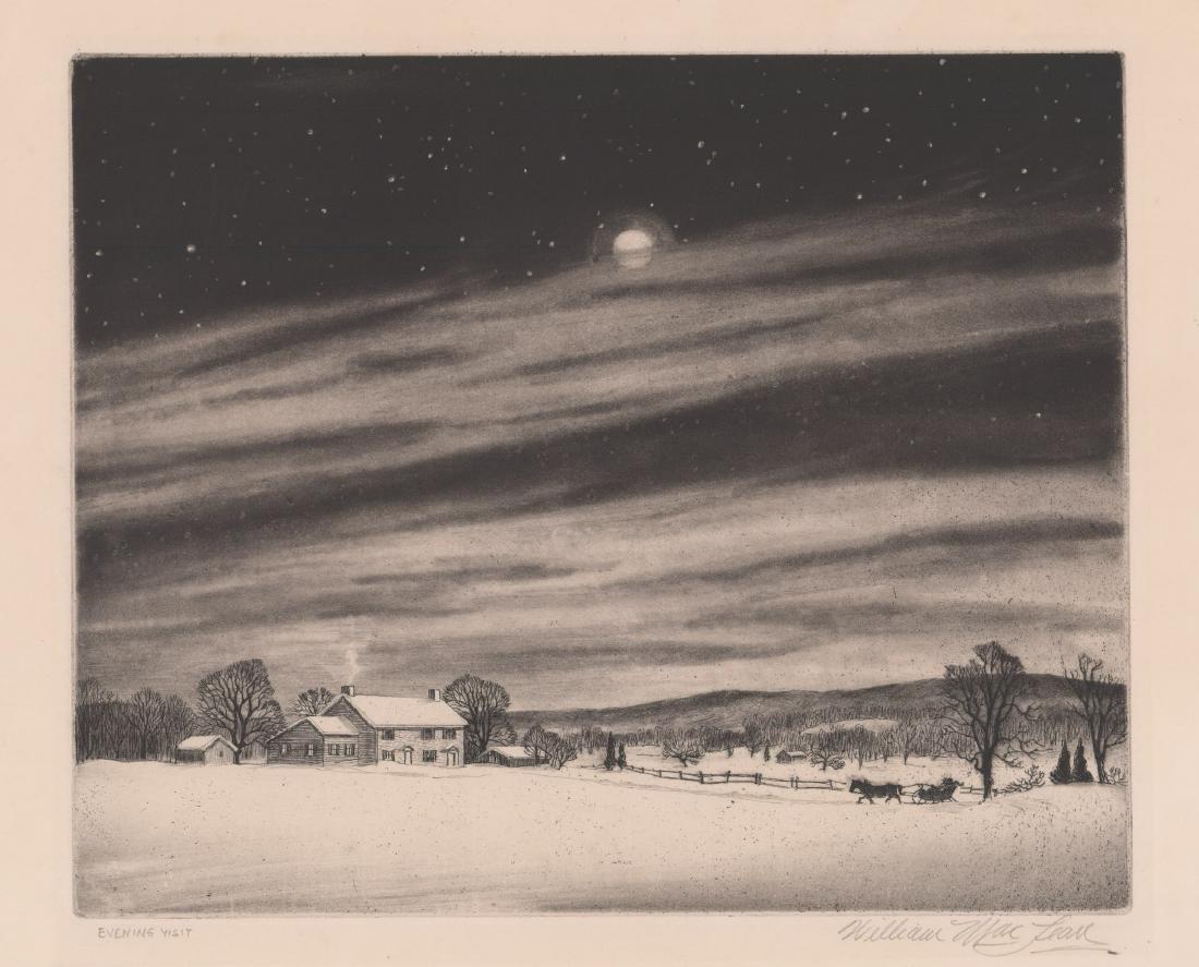 William MacLean Etching [Evening Visit]