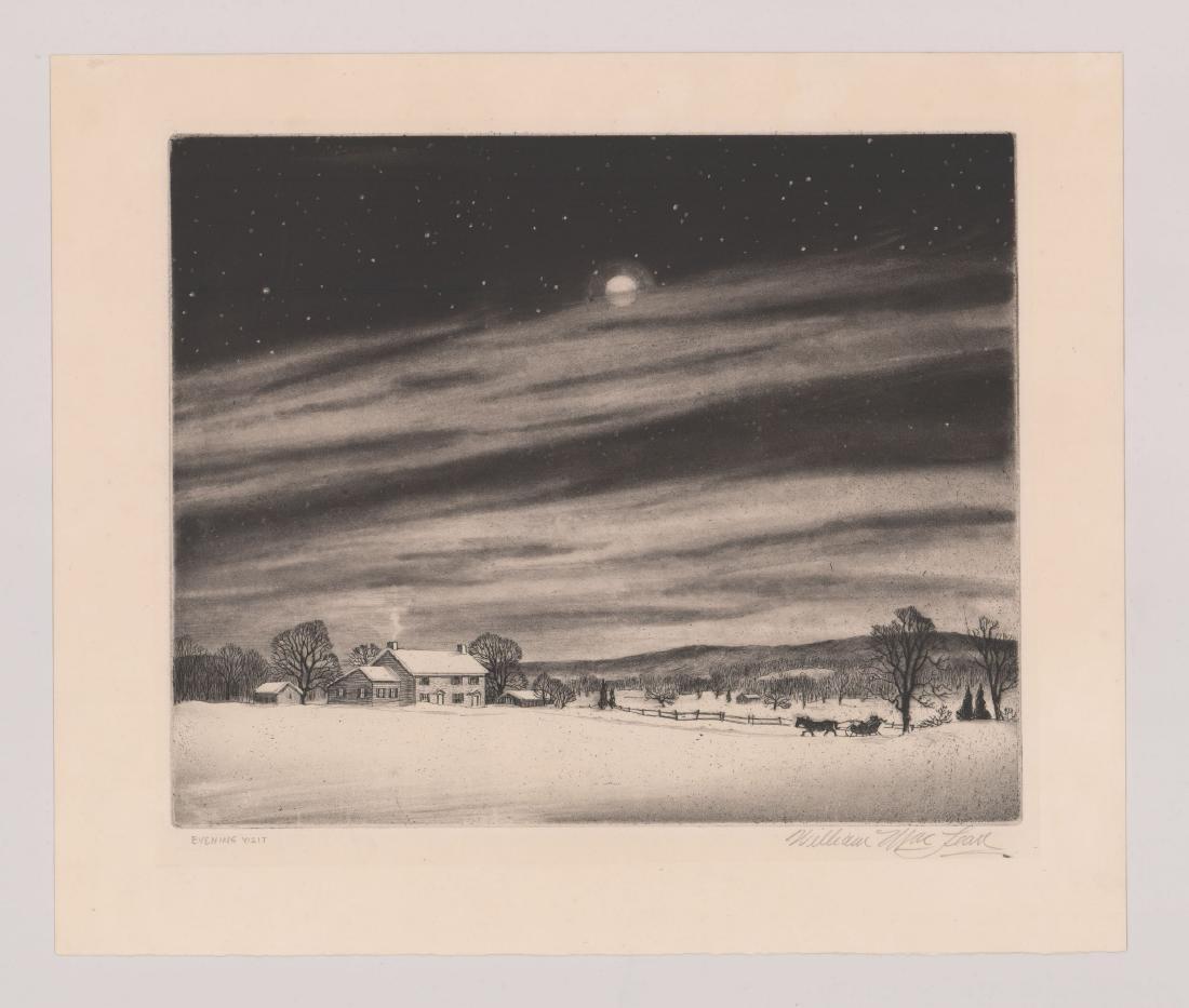 William MacLean Etching [Evening Visit] - 2