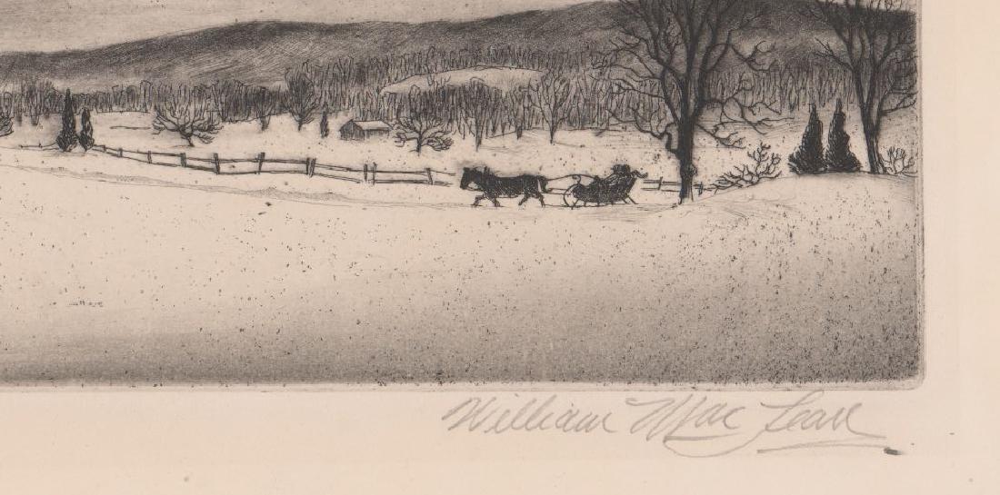 William MacLean Etching [Evening Visit] - 3