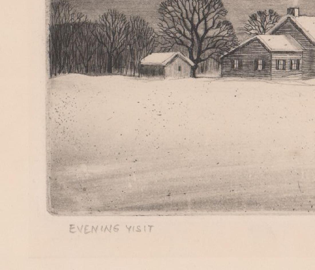 William MacLean Etching [Evening Visit] - 4