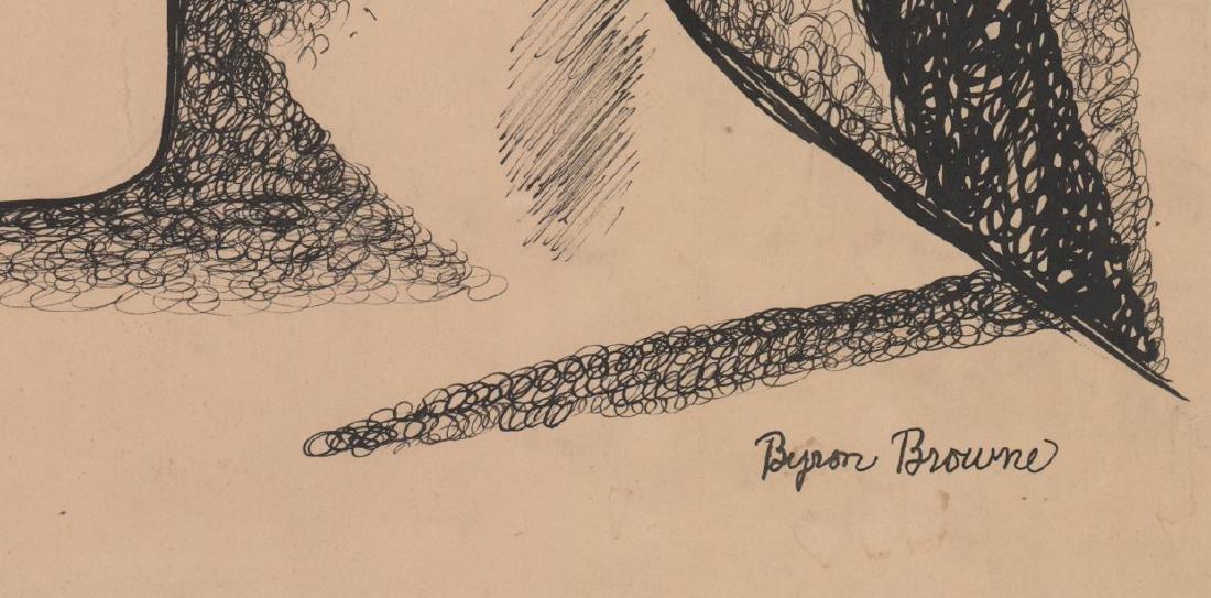 Byron Browne Original Pen & Ink Drawing - 3