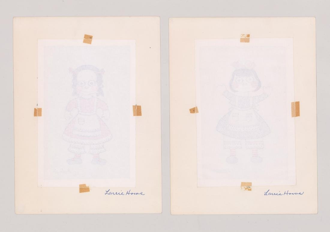 Helmi Juvonen Pair Original Drawings - 3