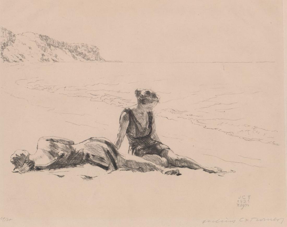 Julius C. Turner Signed Etching