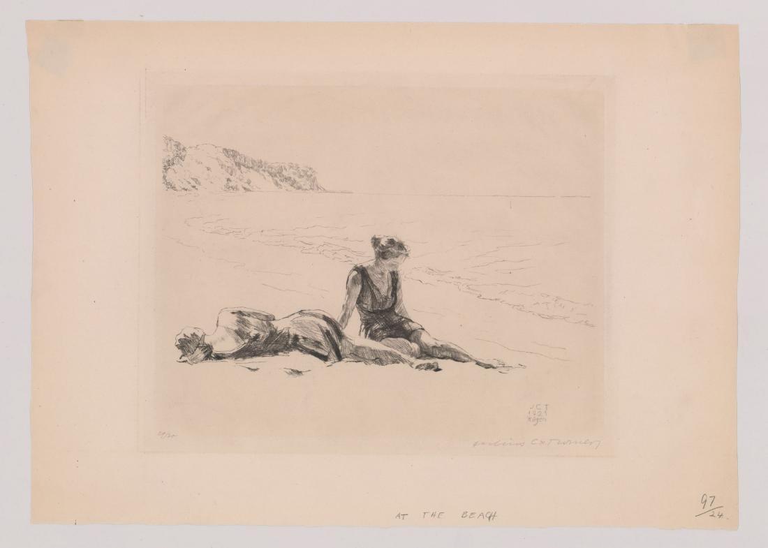 Julius C. Turner Signed Etching - 2
