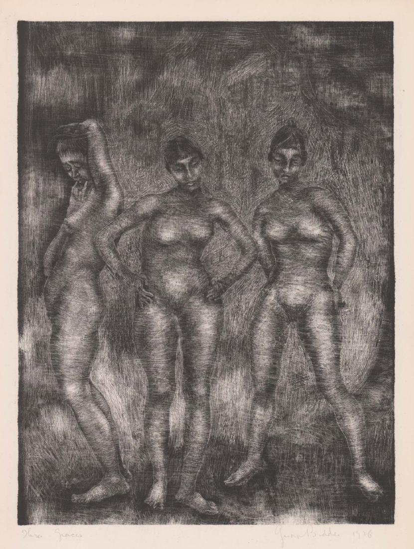 George Biddle Lithograph [Three Graces]