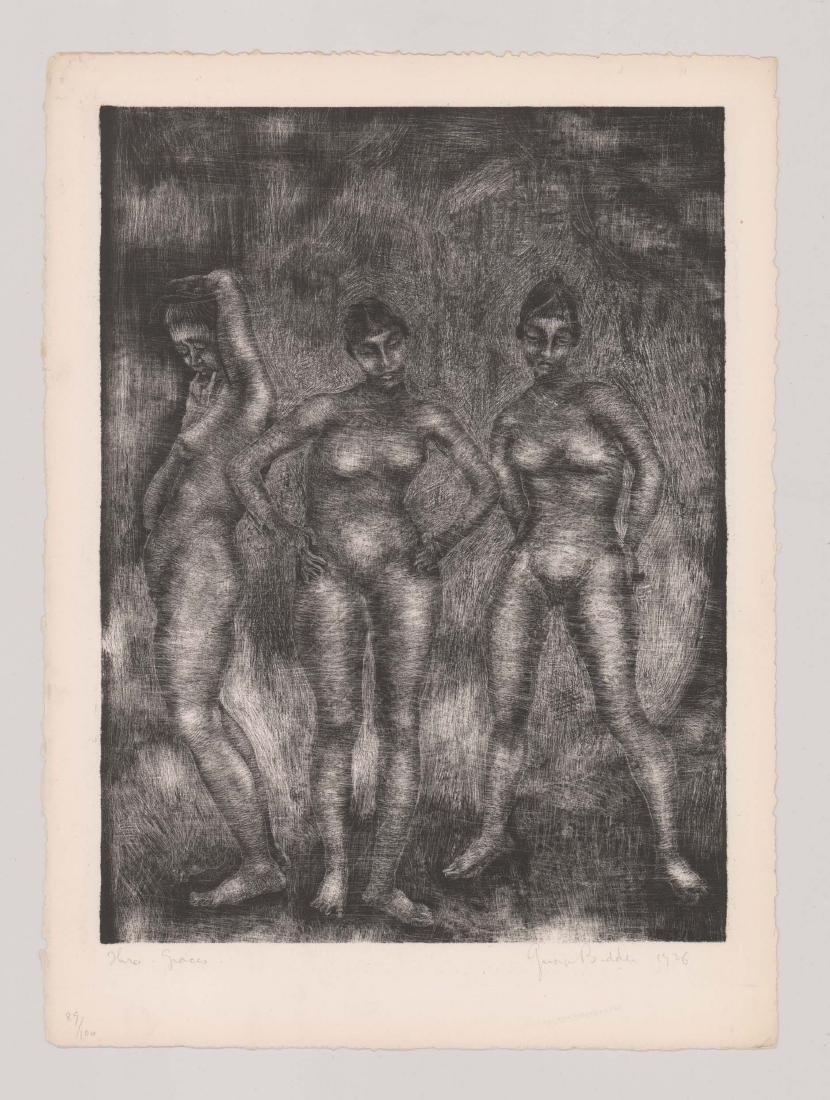 George Biddle Lithograph [Three Graces] - 2