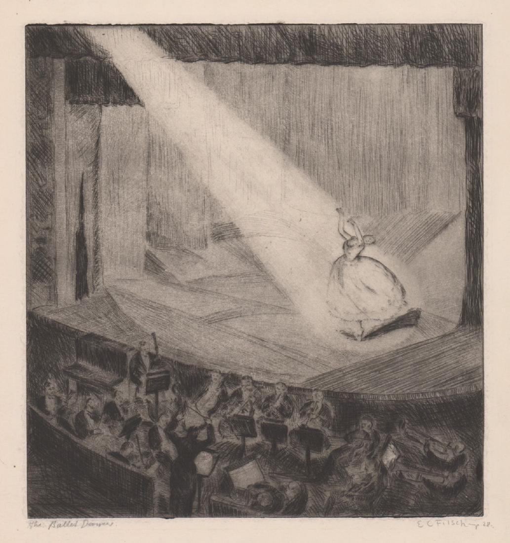 E.C. Filsch Etching [Ballet Dancers]