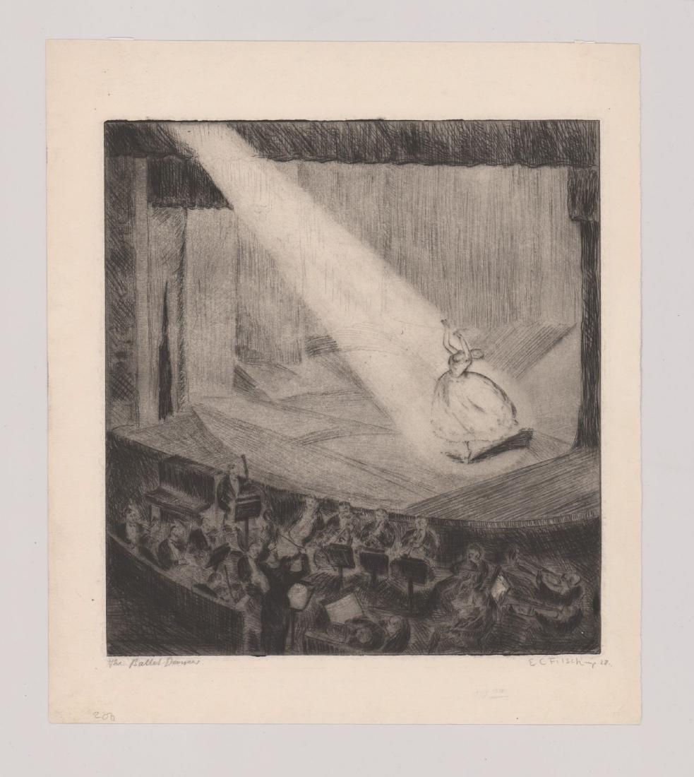 E.C. Filsch Etching [Ballet Dancers] - 2