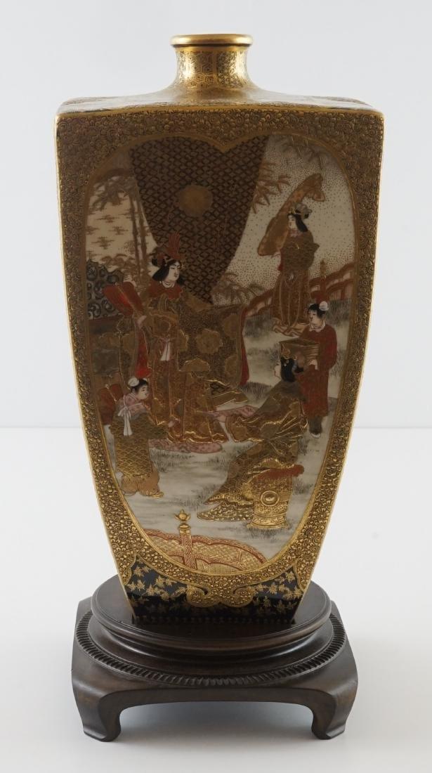 Fine Antique Japanese Kinkozan Satsuma Vase - 2